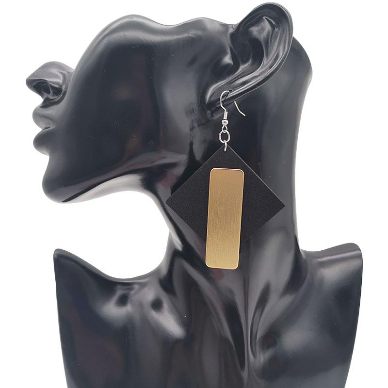 Metal Splicing Earings for Women Vintage kolczyki Earring Hiphop Big Eardrop Rubber Punk Style Handcrafted Piercing kpop 2020