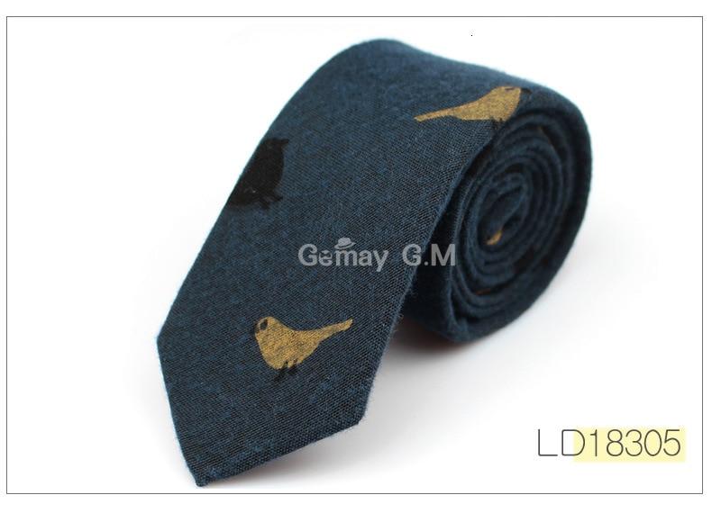 Fashion Ties for Men Cotton Narrow Tie Skinny Cravat Neckties for Winter Men Party Skinny Tie Casual Printed Neck Ties Neckwear