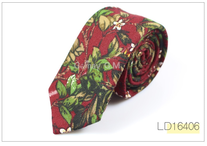 Brand Wedding Cotton Floral Ties For Men Suit Skinny Mens Ties Gravatas Slim Corbatas Vestidos Neck Tie Cravat Grooms Necktie
