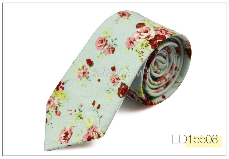 2016 Fashion Floral Print TieCotton Ties For Men Corbatas Slim Suits Vestidos Necktie Party Ties Vintage Printed Gravatas