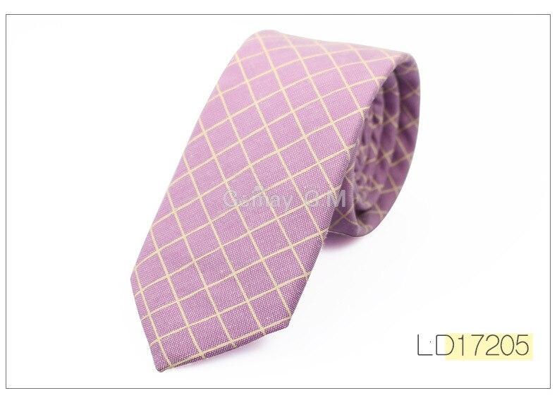 New Fashion Cotton Ties For Men Casual Plaid Mens Necktie Gravatas Corbatas Slim Suits Vestidos Neckties Party Skinny Neck Tie