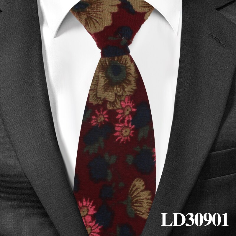 Boy's Necktie Cotton Floral Neck Tie for Children Suits 6cm Print Ties Slim Girls Tie Gravatas
