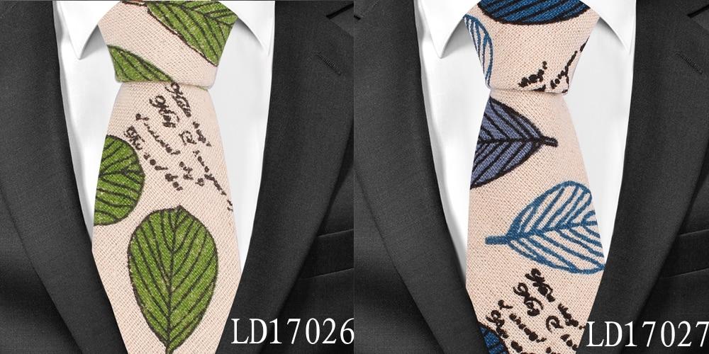 Mens Striped Ties Wedding Groom Linen Necktie Tuxedo Cotton Tie Corbatas Slim Vestidos Fashion Causal Male Neckties Neck Ties