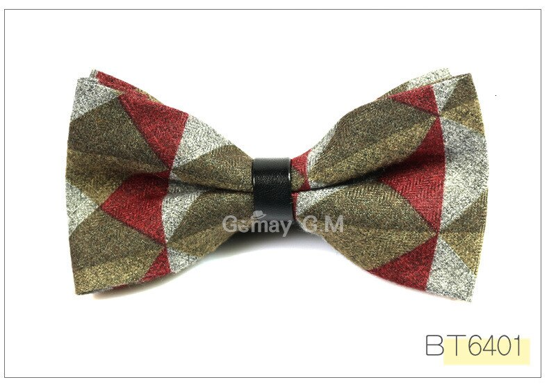 Cotton and Wool Bowties for men Fashion Neckwear Adjustable Mens Bow Ties Classic Pre-Tied bowtie Slim Gravatas