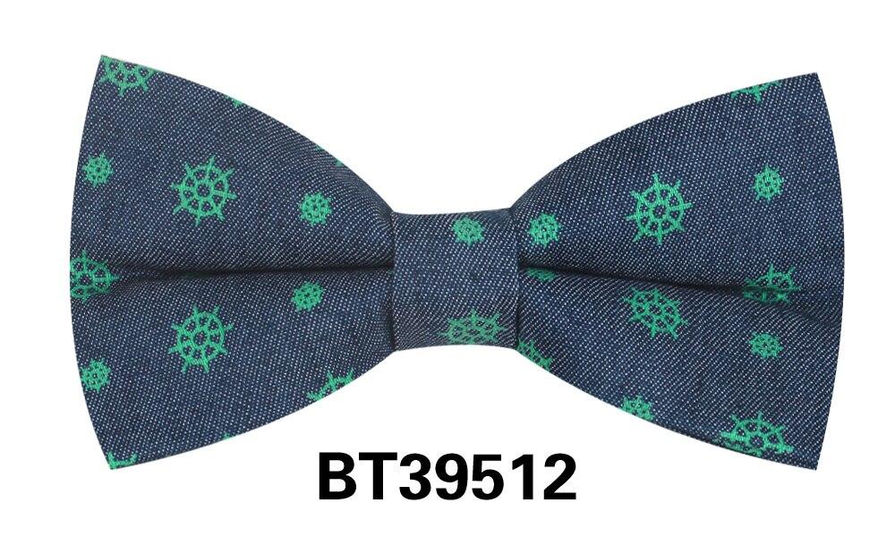 Jeans Men Bow Tie Casual Dots Bowtie For Men Women Adult Denim Bow Ties For Business Wedding Butterfly Suits Cravats Bowties