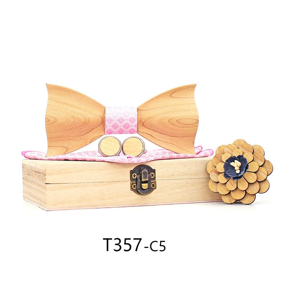 Fashion 3D Wooden Bow Tie For Men Bowties Gravatas Corbatas Business Butterfly Cravat Ties For Party Wedding Wood Ties Sets