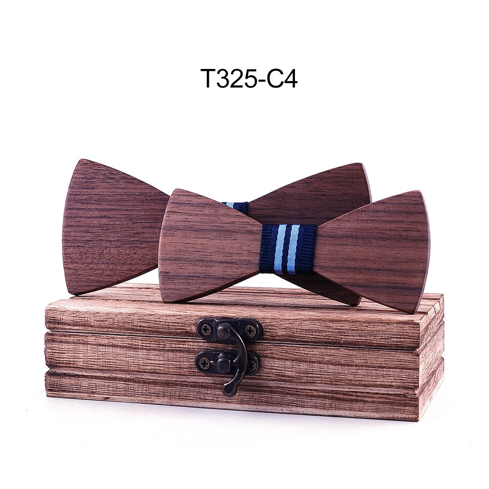 Parent-Child Wooden Butterfly Set  Jacquard Figured Cloth Men Bowtie Adult Party Festival Cravat Accessory Gift corbatas seda
