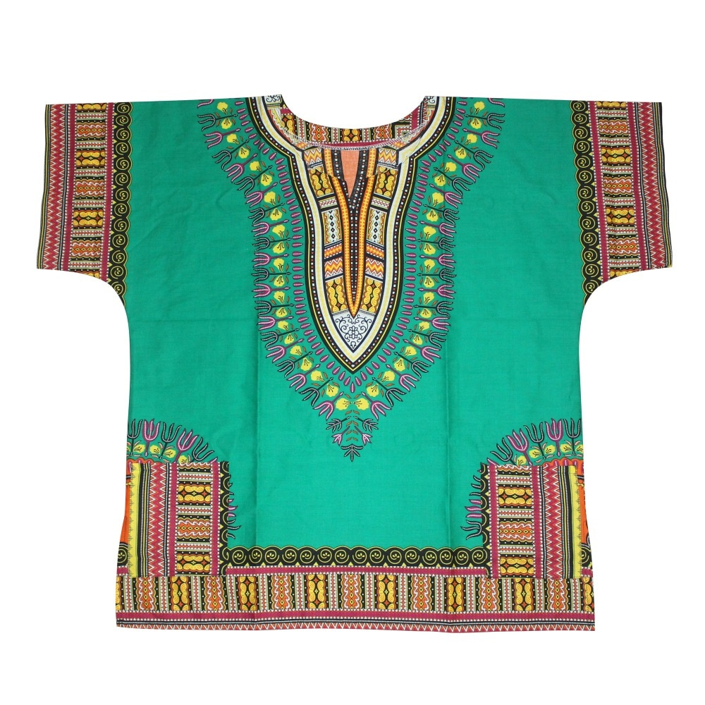 Unisex Cotton Dashiki Mens Women African T-Shirt Top Traditional Tribal Ethnic Succunct Hippie Top