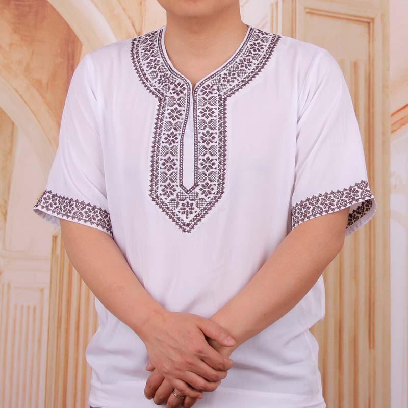 Vintage African Traditional Print Dashiki Loose T shirt Men T-shirt