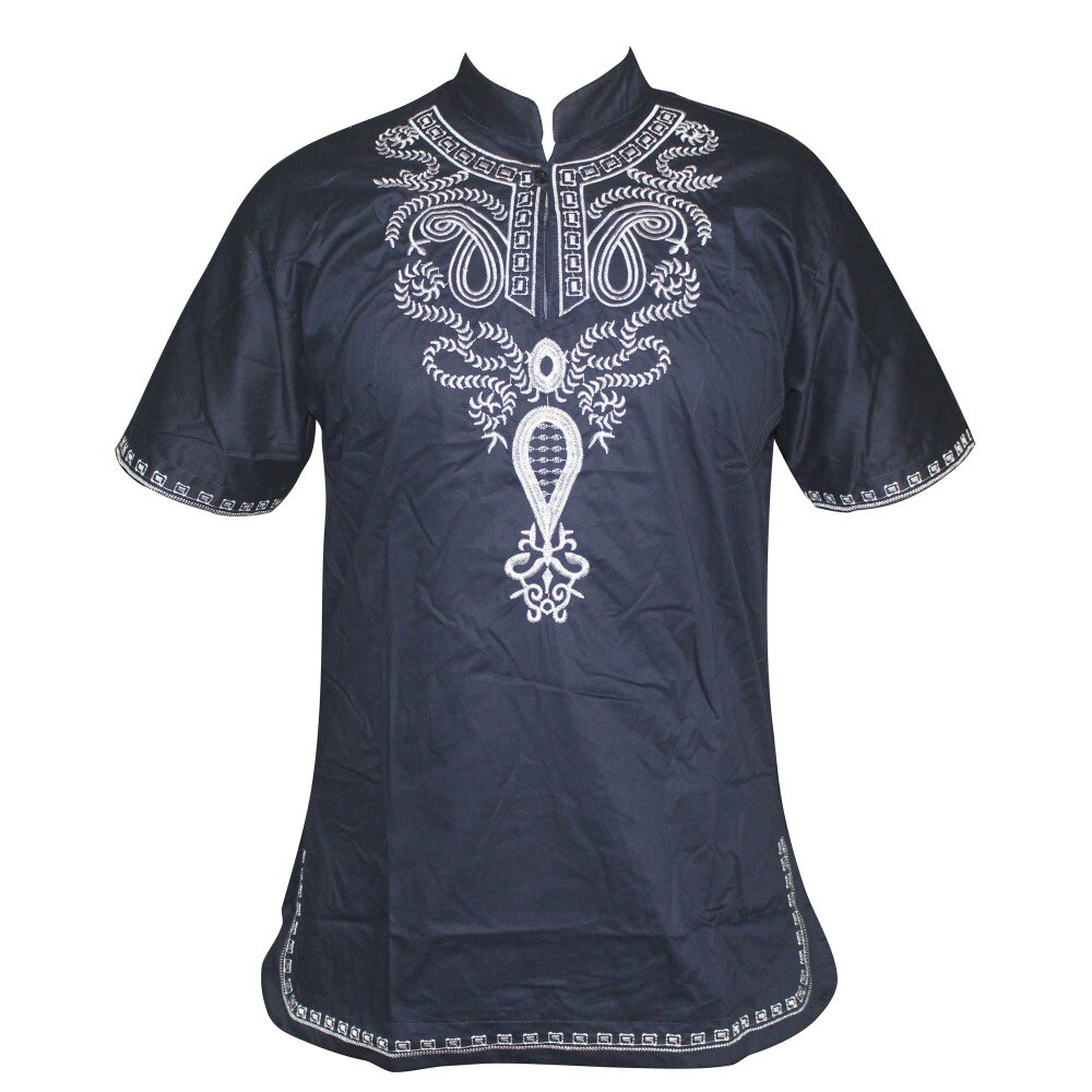 2019 New Embroidery Unisex Africa Bazin Traditional Mali African Vintage Top