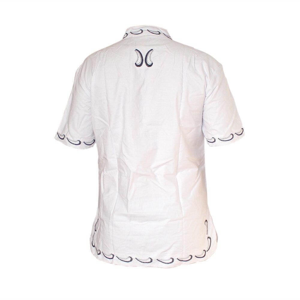 Dashikiage Vintage Cotton African Print Embroidered Dashiki Shirt Unisex Traditional Nigerian Native Ankara Dashiki Top