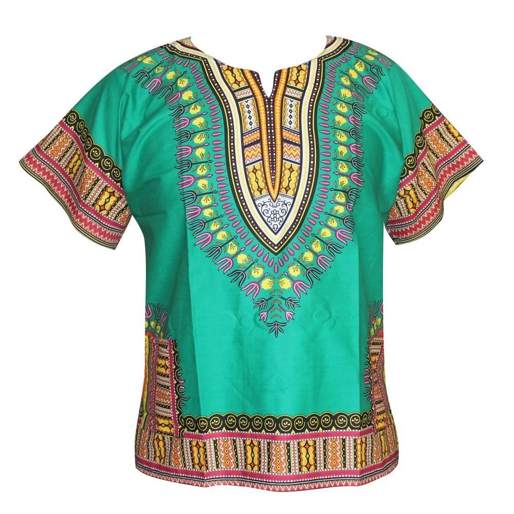 Unisex Cotton Dashiki Unisex Mens Women African T-Shirt Top Traditional Tribal Ethnic Succunct Hippie Top