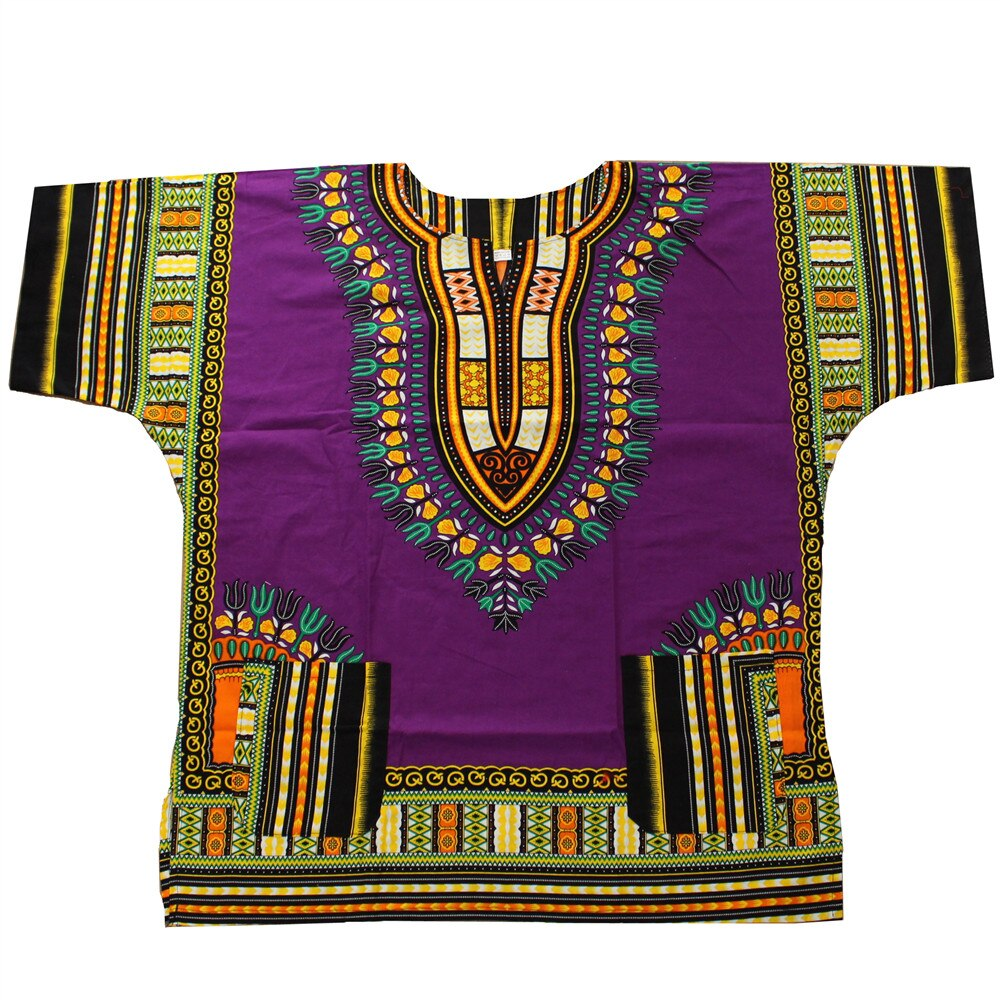 Dashiki fashion design African traditional printed 100% cotton Dashiki T-shirts for unisex Tribal Ethnic Succunct Hippie 2019