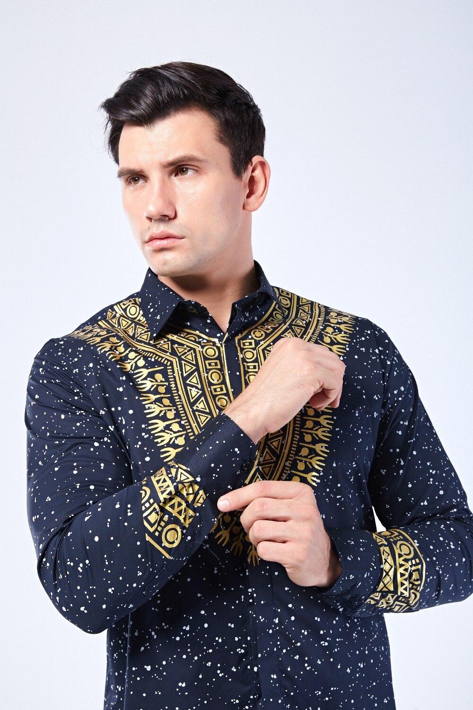 Dashiki 3d Golden printed Covered Button African hip hop Africa Dashiki Shirts Dashikiage clothing Shirt
