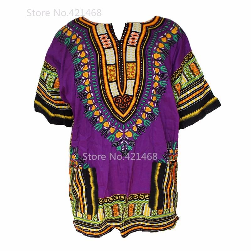 (Fast shipping) Dashiki fashion design african traditional printed 100% cotton Dashiki T-shirts for unisex (MADE IN THAILAND)