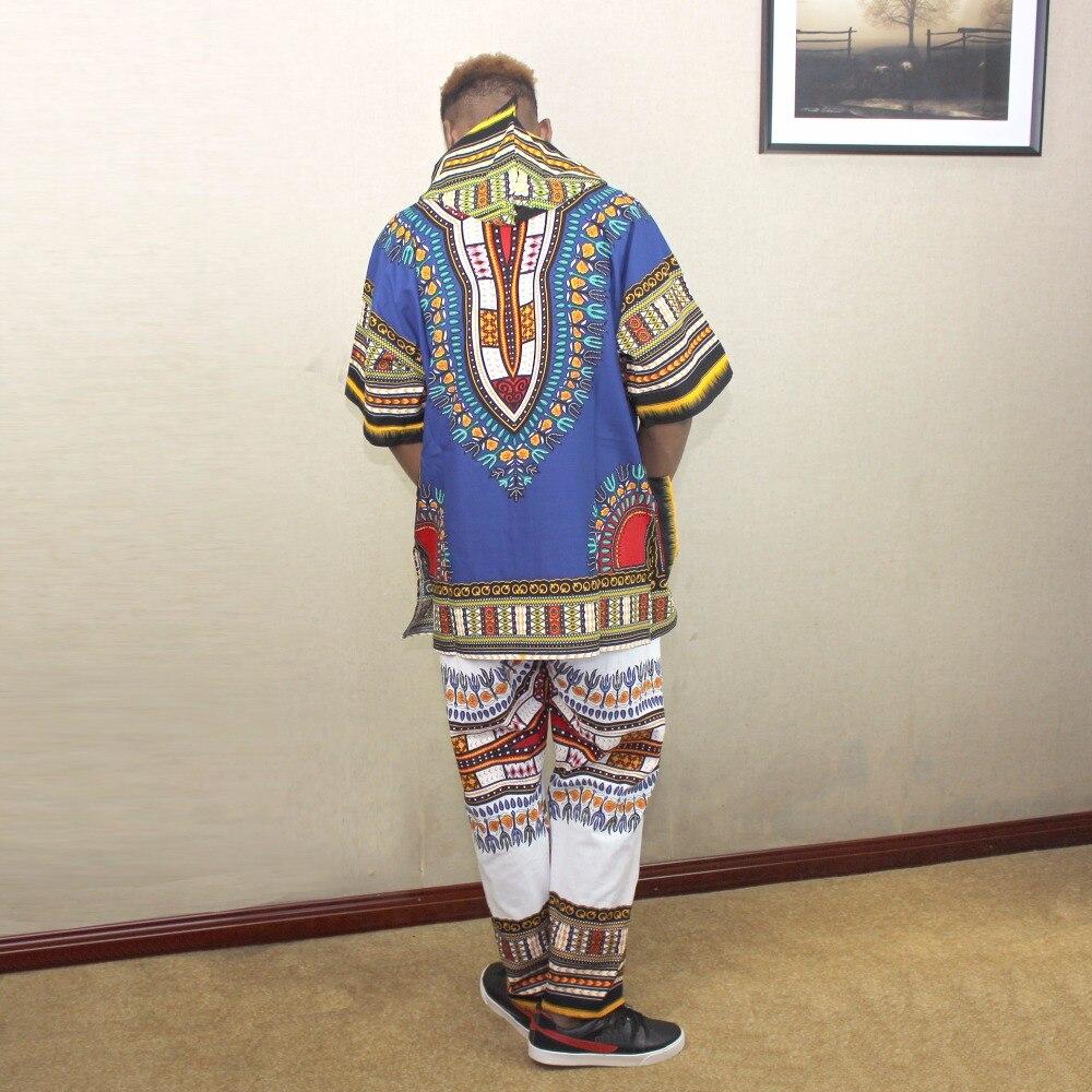 Dashikiage Mens Women Unisex African Dashiki Hoodie Ethnic Top W/ Hood Traditional Blouse