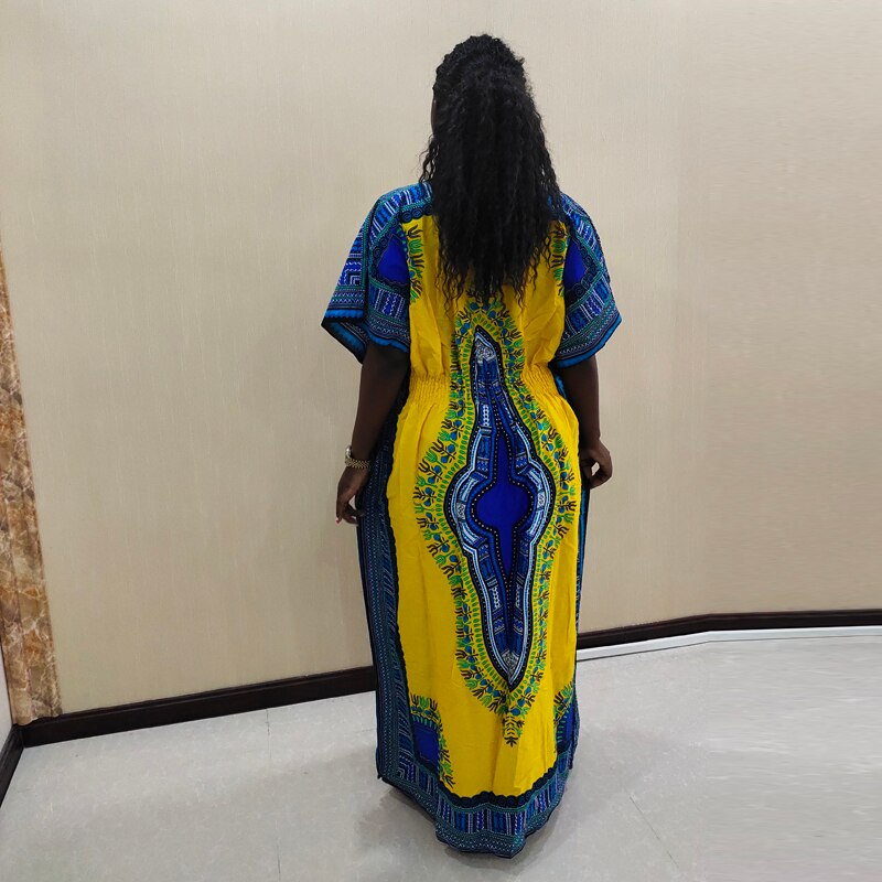 100% Cotton Dashikiage Lady Dashiki Dress African Traditional Print Dresses african clothes