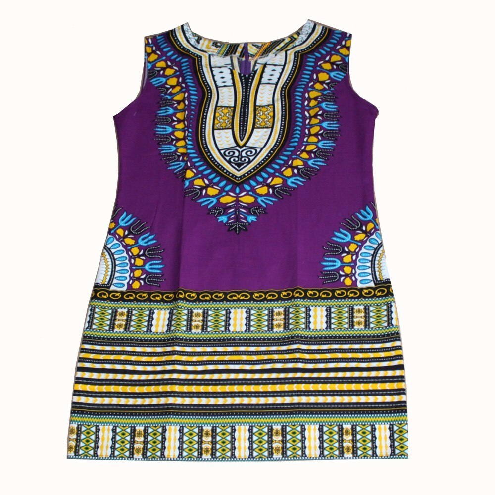 (fast shipping) Sexy African Traditional Print Dashiki Bohemian Sleeveless Red Daisy Dress for lady Slim Fit Dashiki