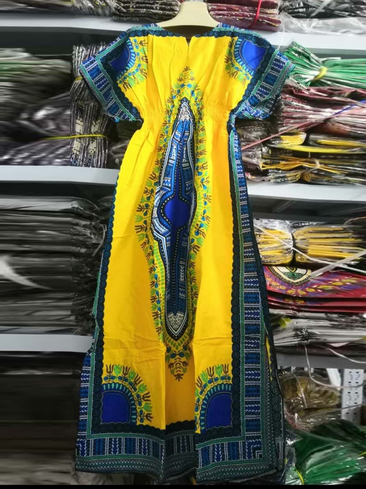 Dashikiage 100% Cotton African Fashion Native Ankara Women dress