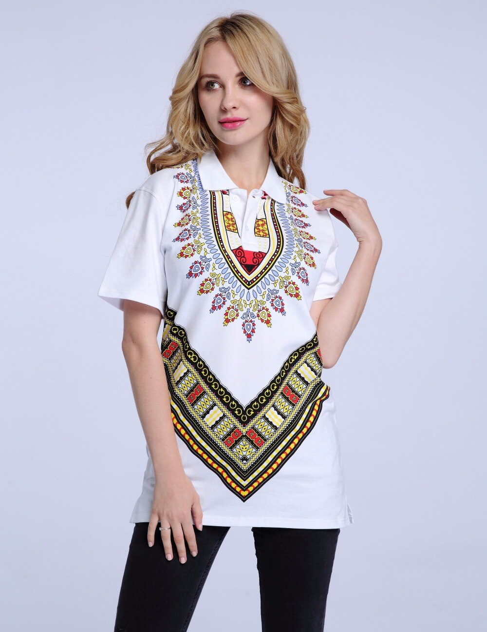 Dashikiage New Design African Print Dashiki Shirts Fashion T-shirt - Unisex
