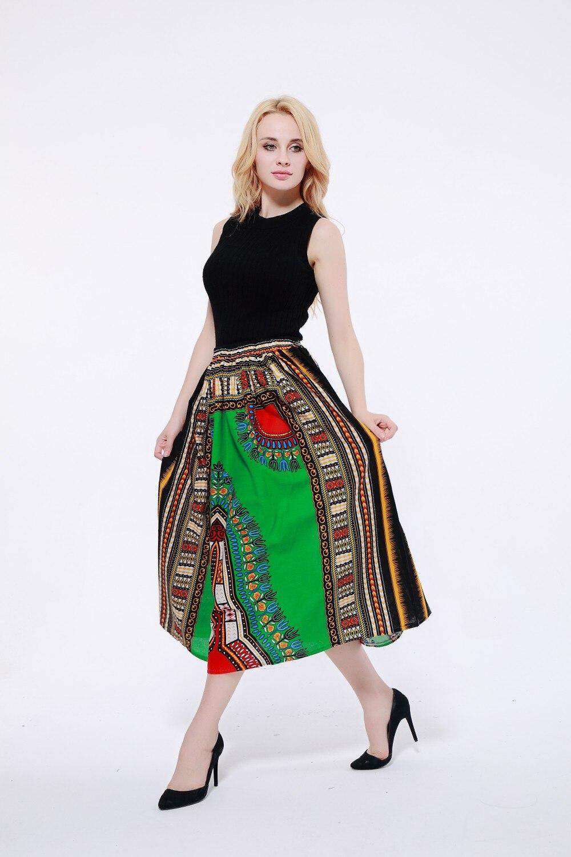 NEW 100% Cotton African Dashiki Maxi Skirt