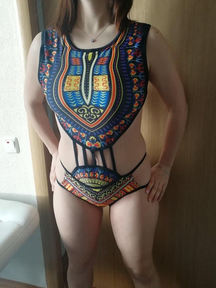 African Dashiki Printed Swimwear One Piece Swimsuit 2019 Women High Cut Trikini Thong Monokini Brazilian Plus Size Bathing Suit