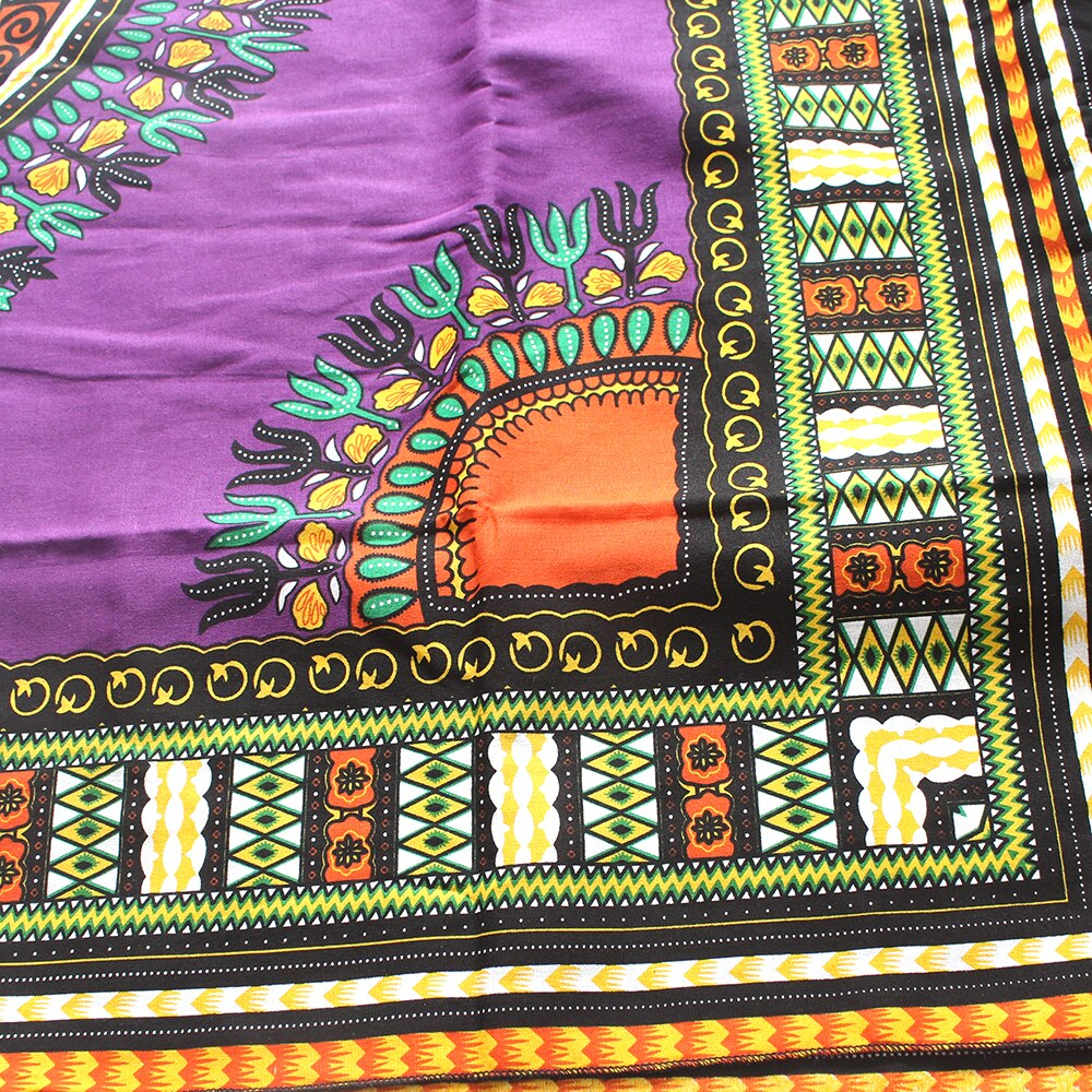 Dashikiage 2019 African Dashiki Colorful Pattern Printed 100% Cotton Fabric