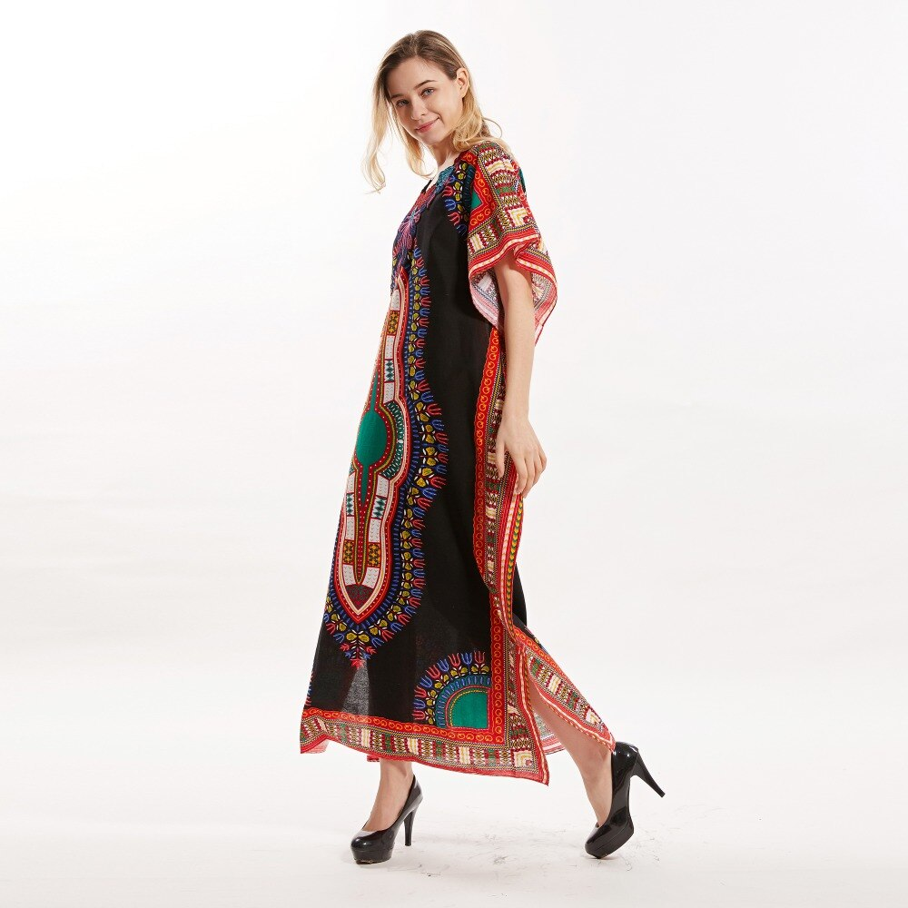 New Arrival Embroidery Women's 100% Cotton African Print Dashiki Stunning elegant african dresses for women