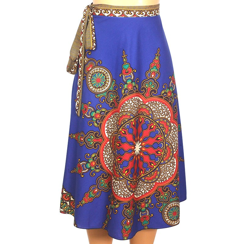 Wholesale 2020 Dashikiage Fashion New Arrival African Clothes African Dashiki Print 100% Cotton Women Skirt  Piece Bandage Skirt