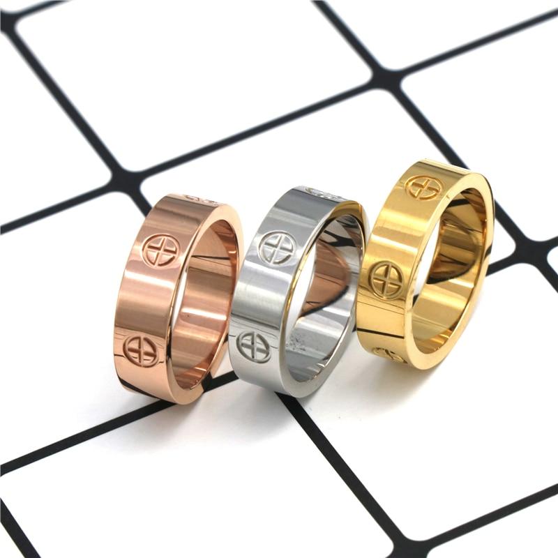 fashion Stainless Steel  Jewelry love rings luxury wedding   rings  for women men