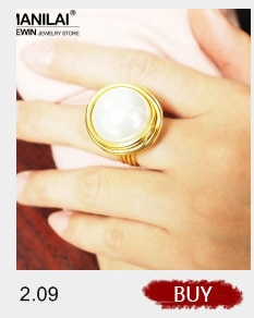 MANILAI Handmade Big Crystal Rings For Women Fashion Gold Color Wire Helical Wound Beads Finger Ring Wedding Party Jewelry