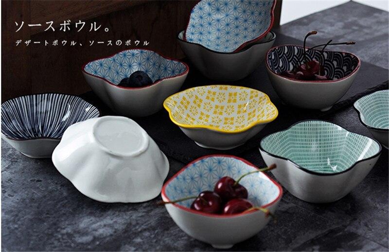 Small Creative Dish Seasoning Sauce Dish Ceramic Plate Dip Bowl Butter Snack Sushi Vinegar Dishes Saucer ceramic soy sauce dish