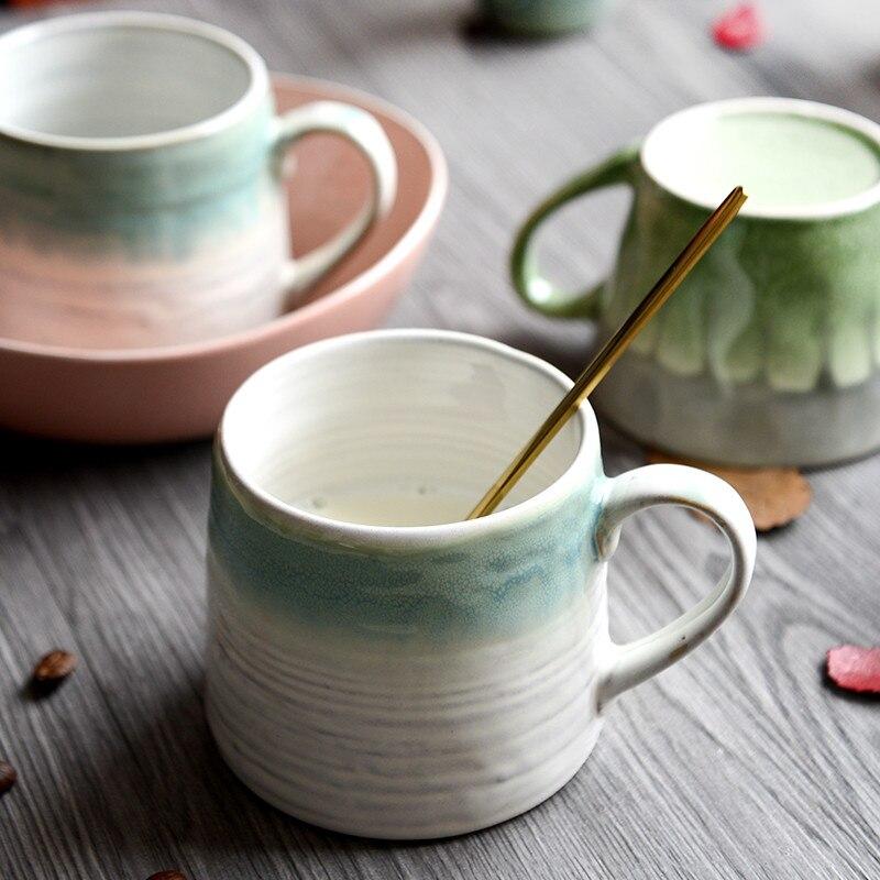 coffee cup mug tea cup hand-painted pattern ceramic mug water cup creative handmade art cup with handle tumbler travel cups mug