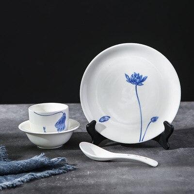 ceramics tableware Bowl and plates set butter Steak Dish Flat Plate Court Style Royal Dinner Dessert Dried Fruit Cake Plate