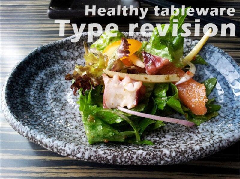 oval Sushi dish Japanese ceramic bone plate dinner dishes snack ceramic dinner plates dish set serving dish restaurant supplies