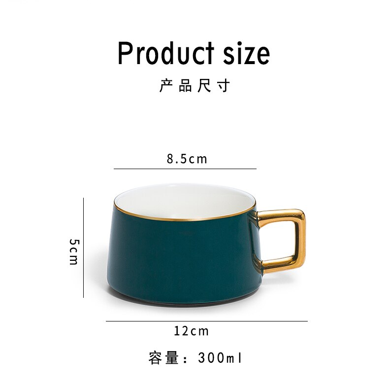 Creative Personality Trend Men Ceramic Cup Coffee Cup Lovers Cup Drinking Mug with Lid Spoon Coffee Mugs Travel Mug Europe