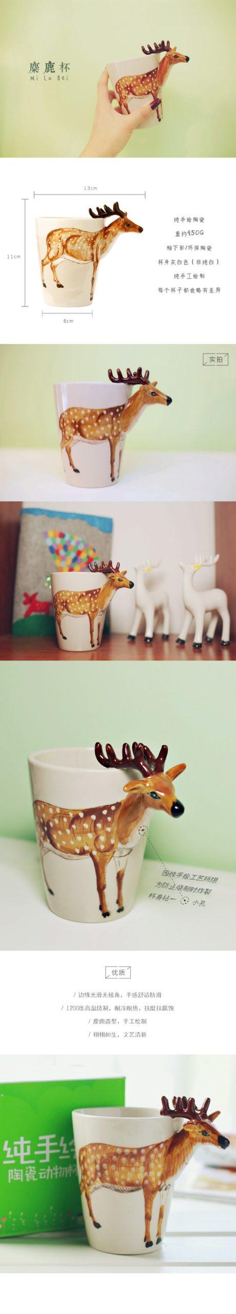 Cute Cat Coffee Mugs Porcelain Dog Cup 3D Painted Travel Coffee Mug Milk Tea Kids Cup Coffee Mugs Anime Enamel Mug Taza Hot Sale