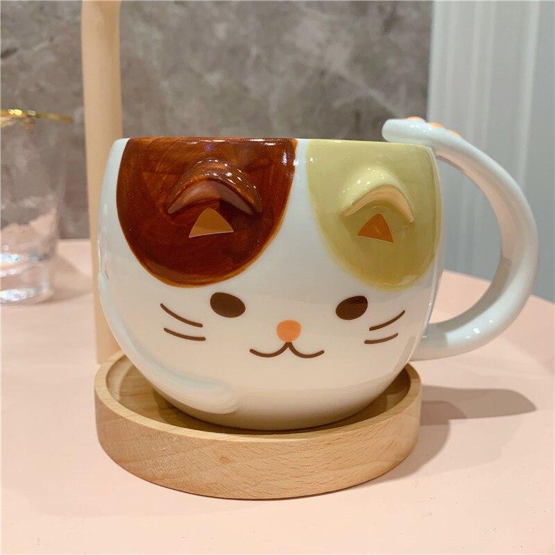 Cute Cat Coffee Mugs Ceramic Cup Milk Breakfast Water Cup Funny Mug Friends Tv Show Birthday Gift Tazas Para Cafe Christmas Mugs