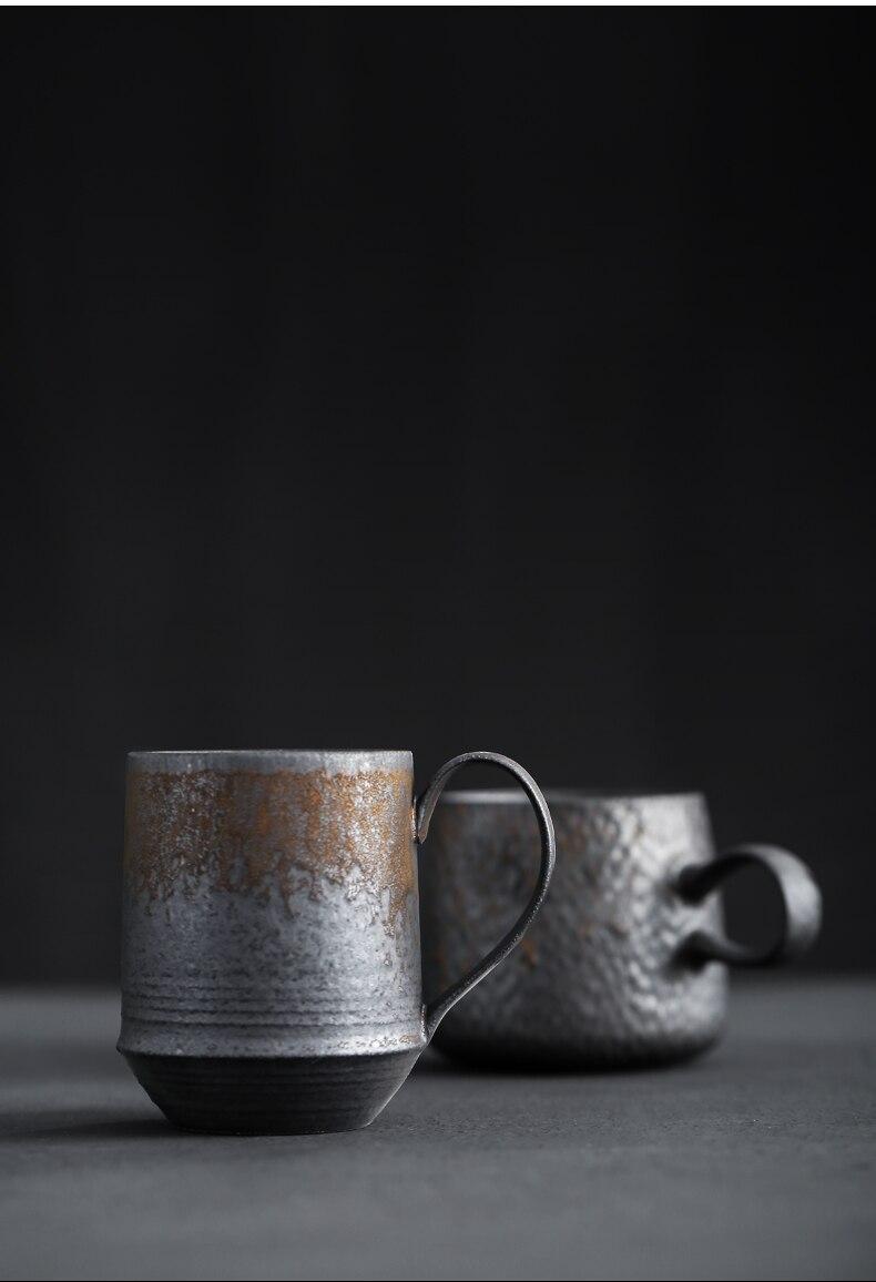 Japanese Coffee Cup Retro Handmade Cups and Mugs Afternoon Tea Cup Ceramic Mug Tazas De Ceramica Creativas Tumbler Enamel Mug