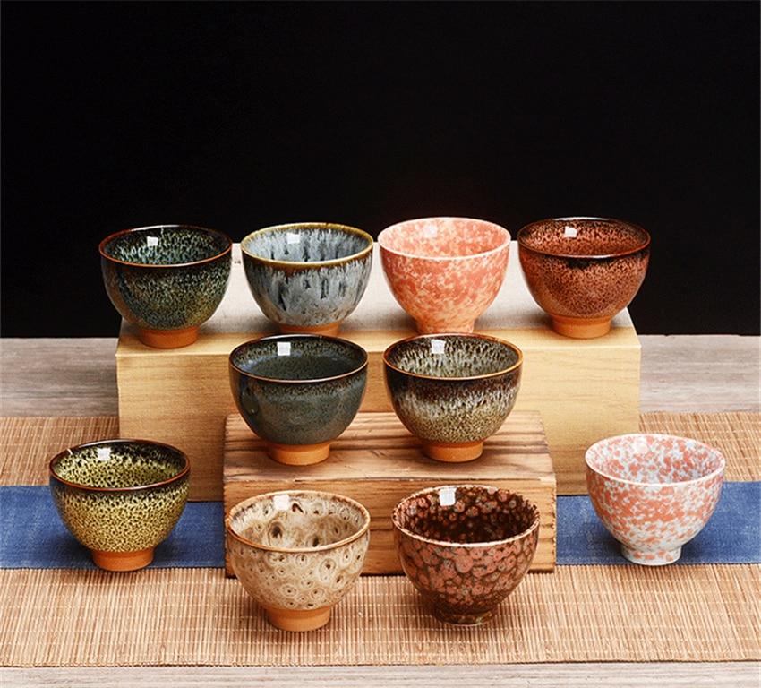 6pcs Ceramic Drinkware Teaware Chinese KungFu Tea Set Teacup Sake Cups 50ml Master Cup Small Tea Bowls Decor Gift
