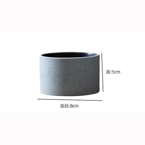 American Art Retro Ceramic White Coffee Cup 125ML Modern Minimalist Home Round Espresso Mug Office Store Small Latte Cup Single
