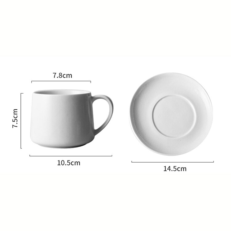 280ml Japanese Art Ceramic Retro Concentrated Latte Cup American Luxury Coffee Mug with Saucer Home Afternoon Tea Flower Tea Cup