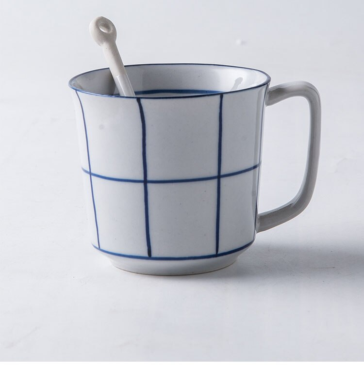 Japanese Ceramic Coffee Cup Simple Household Ceramic Concave Pattern Soup Ton Korean Home Office Company Afternoon Tea Tea Cup
