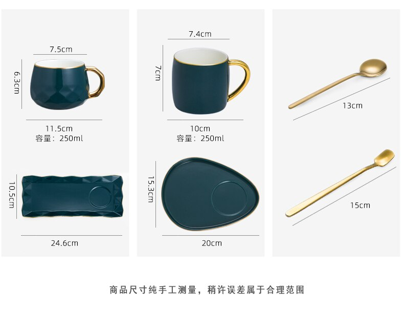 Ceramic mug with lid spoon creative personality trend cup simple couple drinking cup household coffee cup
