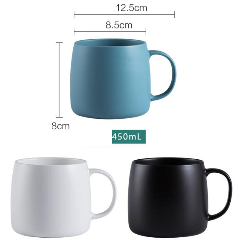 Nordic Matte Mugs Ceramic Cater Cup Office Handle Cup Home Milk Drinking Cup