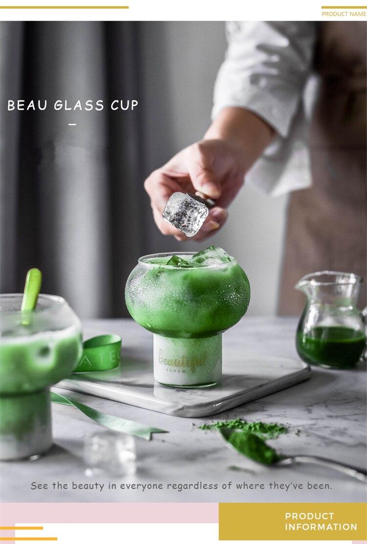 New Nordic Style Bar Cocktail Ball Glass Spherical Dessert House Sweetmeats Tumbler Smoothies Ice Cream Cup Leben Milk Shake Mug