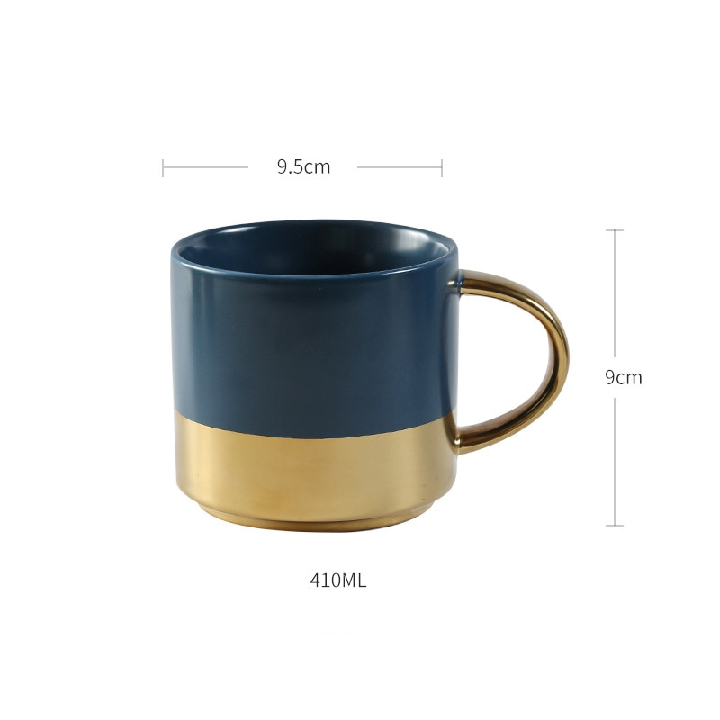 European luxury golden handle coffee mug Ceramic Coffee Tea Milk Drinkware Mugs,Porcelain Mugs Personality Coffee Cup
