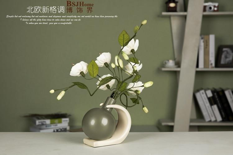 Minimalist ceramic Acrylic creative simple fashion flowers vase home decor craft room bar wedding decoration handicraft figurine