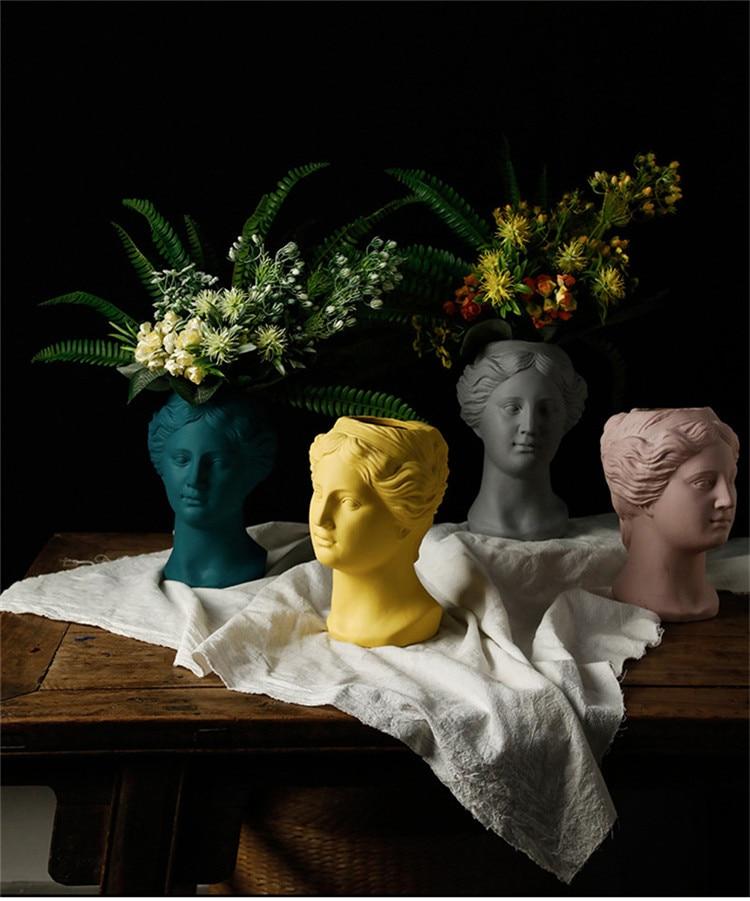 Succulents Vase flower Pot Greek Goddess Vase Decoration Nordic Ornaments Venus flower Decoration Statue Ceramic Crafts Artwork