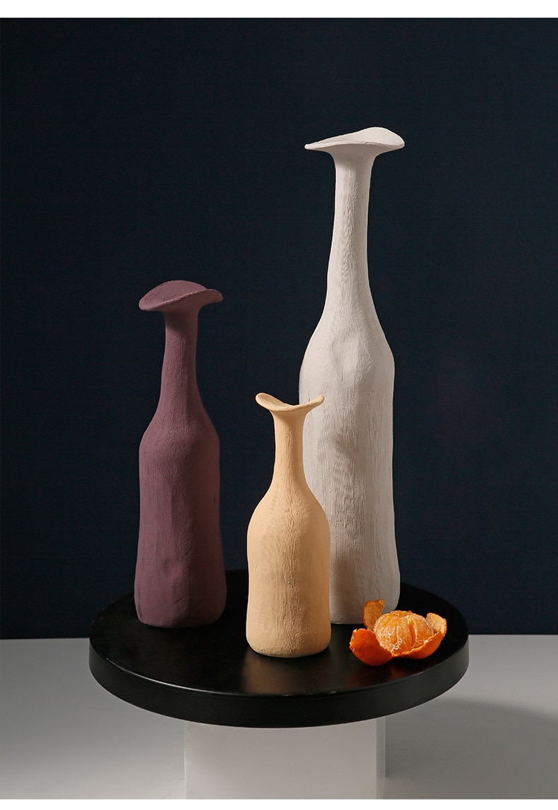 Vases Modern Ceramic Vase Moran-dis Multi-colored Minimalist Vase Tabletop Decorations Living Room  Nordic Sculpture Art